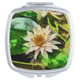 Schöne Lotos-Blume Taschenspiegel
