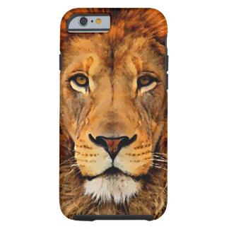 Schöne Löwe-Kopf-Ölgemälde-Kunst Tough iPhone 6 Hülle