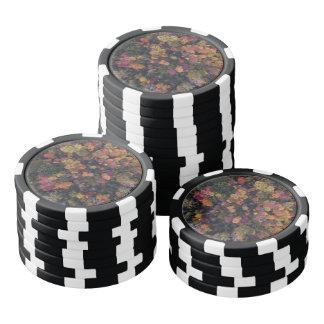Schöne Luftaufnahme des Herbstfarbwaldes Poker Chips