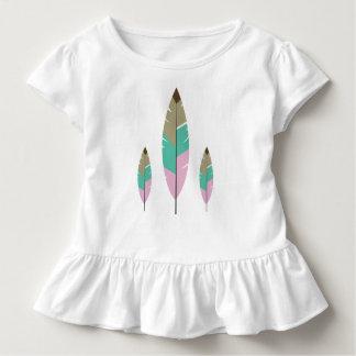 Schöne Mädchen der rosa Tosca braunen niedlichen Kleinkind T-shirt