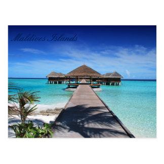Schöne Malediven-Inseln Postkarten