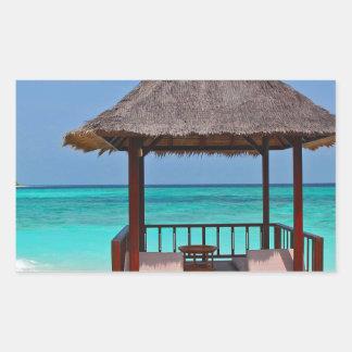 Schöne Malediven-Inseln Rechteckiger Aufkleber