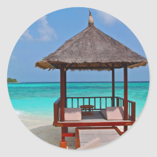 Schöne Malediven-Inseln Runder Aufkleber