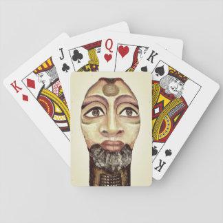 Schöne Malerei der ägyptischen Göttin Spielkarten