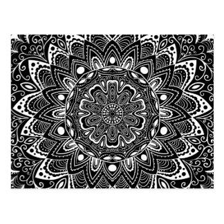 Schöne Mandala-Muster-Postkarte Postkarte