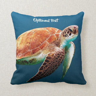 Schöne Meeresschildkröte-Schwimmen Kissen