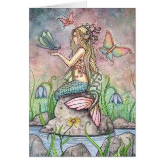Schöne Meerjungfrau-Karte durch Molly Harrison Karte
