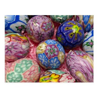 Schöne mehrfarbige Wachs Ukrainer-Eier Postkarte