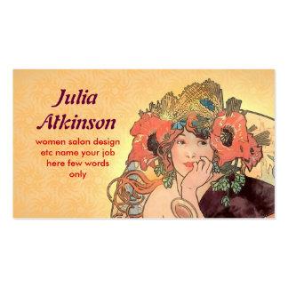 schöne moderne Damengesichts-Visitenkarte Visitenkarten