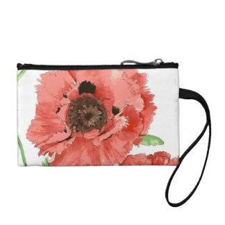 Schöne Mohnblumen-Handtasche Münzbeutel