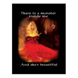 Schöne Monster-Postkarte Postkarte