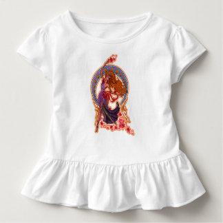 Schöne Morgen goddes Fee fliegt mit Mond Kleinkind T-shirt