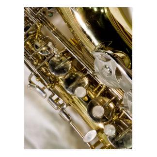 Schöne Musik--Saxophon Postkarte