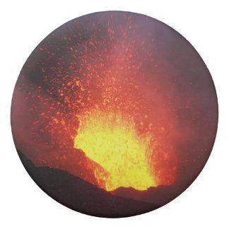 Schöne Nachtvulkanische Eruption Radiergummi