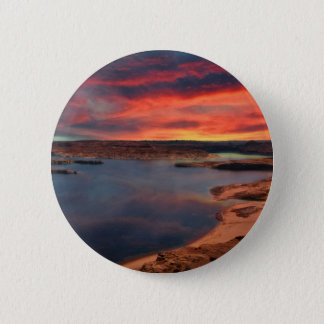 Schöne Naturlandschaft See-Powells Runder Button 5,1 Cm