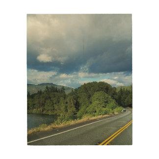 Schöne Nordkalifornien-Rotholz-Bäume Holzleinwand