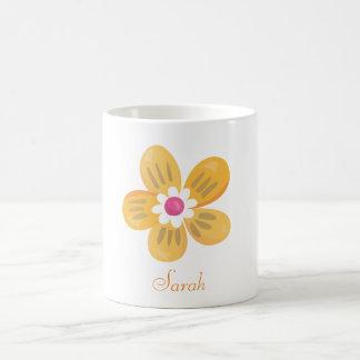 Schöne orange Blume Kaffeetasse