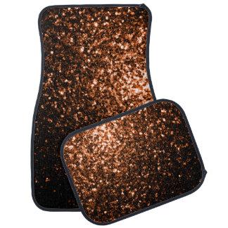 Schöne orange Brown-Glitter-BronzeGlitzern Autofußmatte
