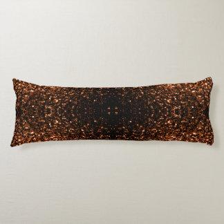 Schöne orange Brown-Glitter-BronzeGlitzern II Seitenschläferkissen