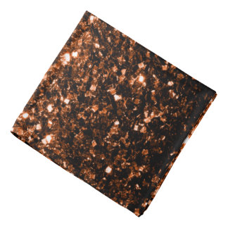 Schöne orange Brown-Glitter-BronzeGlitzern Kopftuch