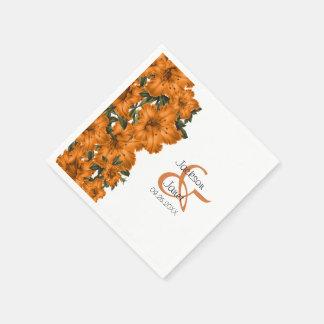 Schöne orange Lilien Papierservietten