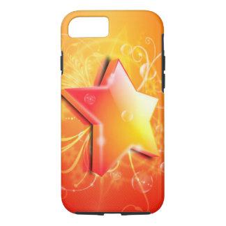 schöne orange Strudelkunst des Sternes 3d-very iPhone 8/7 Hülle