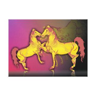 Schöne Paare des Pferds Leinwanddruck