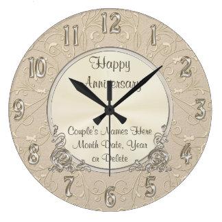 Schöne PERSONALISIERTE Jahrestags-Uhr Wanduhr