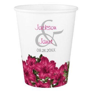 Schöne Pink-Lilien Pappbecher