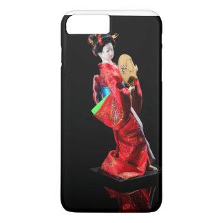 Schöne Puppe, hübsches Mädchen, Schwarzes und Rot iPhone 8 Plus/7 Plus Hülle