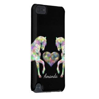 Schöne Regenbogen-Pferde und Herz iPod Touch 5G Hülle