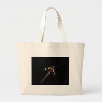 Schöne Regenbogenmotte (Euchromia foletti) Jumbo Stoffbeutel