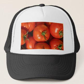 Schöne reife Homegrown Tomaten Truckerkappe