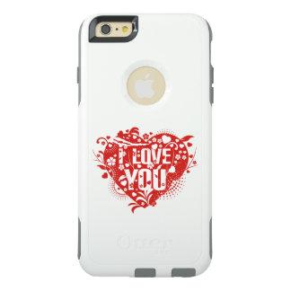 Schöne reizende i-Liebe vector Sie rote Herzen OtterBox iPhone 6/6s Plus Hülle