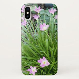 SCHÖNE ROSA BLUMEN iPhone X HÜLLE