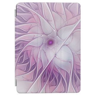 Schöne rosa Blumen-moderne abstrakte Fraktal-Kunst iPad Air Hülle