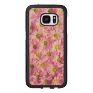 Schöne rosa Blumen Samsung Galaxy S7 Holzhülle