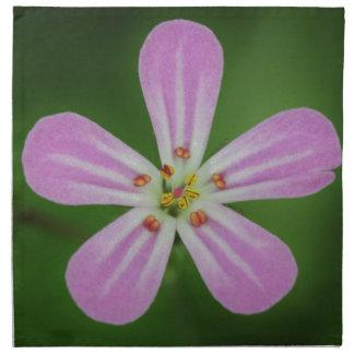 Schöne rosa cranesbill Blume Serviette