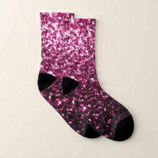 Schöne rosa Glitter-Glitzern Socken