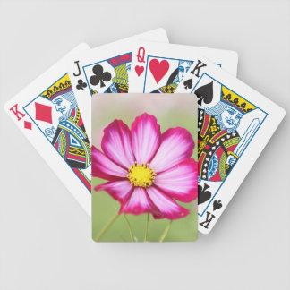 Schöne rosa Kosmos-Blume Bicycle Spielkarten