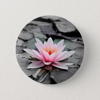 Schöne rosa Lotos-Blumen-Wasserliliezen-Kunst Runder Button 5,1 Cm