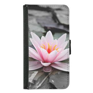 Schöne rosa Lotos-Blumen-Wasserliliezen-Kunst Samsung Galaxy S5 Geldbeutel Hülle