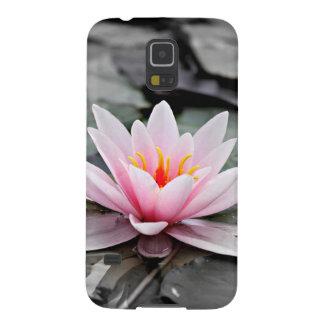 Schöne rosa Lotos-Blumen-Wasserliliezen-Kunst Samsung Galaxy S5 Hülle