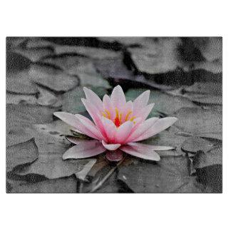 Schöne rosa Lotos-Blumen-Wasserliliezen-Kunst Schneidebrett