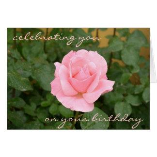 Schöne rosa Rosen-Geburtstags-Karte Karte