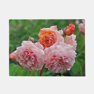 Schöne rosa Rosen Türmatte