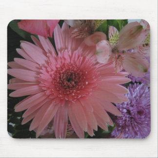 Schöne rosa und lila Blumen Mauspad