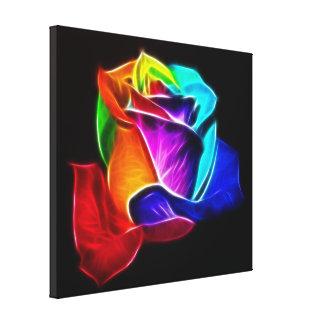 Schöne Rose der Farben No2 Leinwanddruck