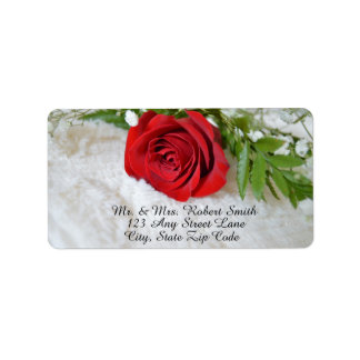 Beautiful Rose Labels - Personalized
