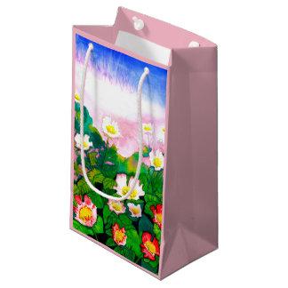 Schöne Rosen-Garten-Wasserfarbe-Geschenk-Tasche Kleine Geschenktüte